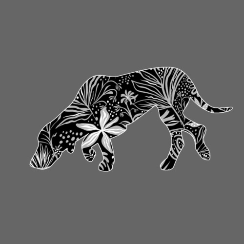 Flower Suomenajokoira - Miesten premium t-paita