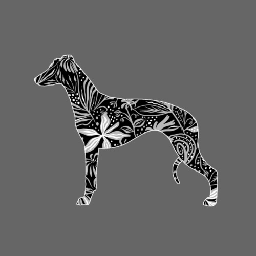 Flower Whippet - Miesten premium t-paita