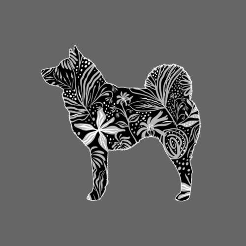 Flower Norjanharmaa - Miesten premium t-paita