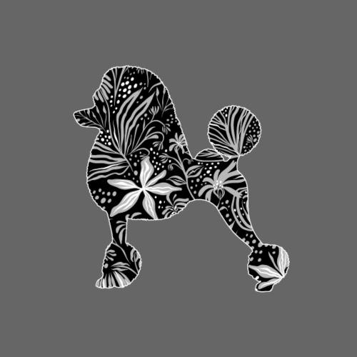 Flower Poodle I - Miesten premium t-paita