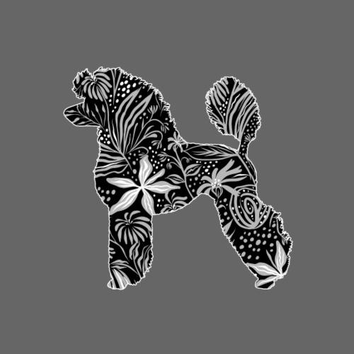 Flower Poodle - Miesten premium t-paita