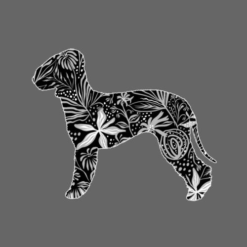 Flower Bedlington - Miesten premium t-paita