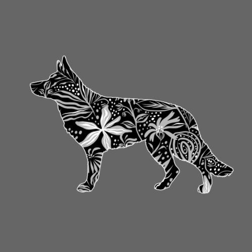 Flower GSD - Miesten premium t-paita