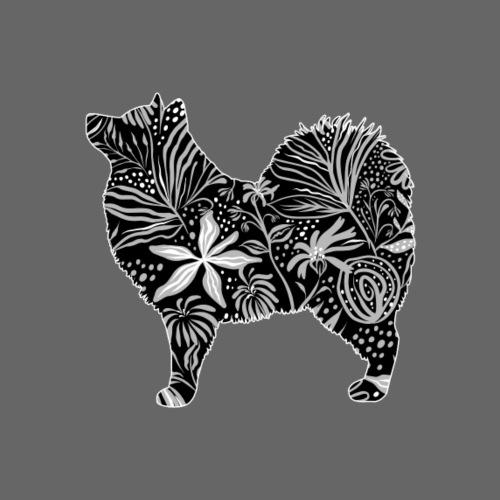 Flower Samoyed - Miesten premium t-paita