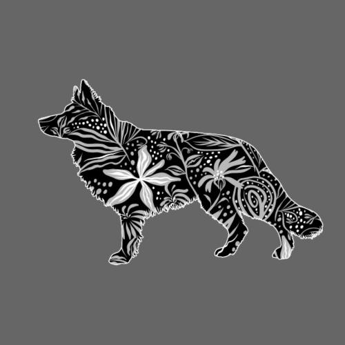 Flower GSD Long - Miesten premium t-paita