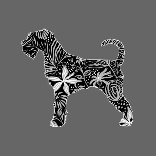 Flower Schnauzer - Miesten premium t-paita