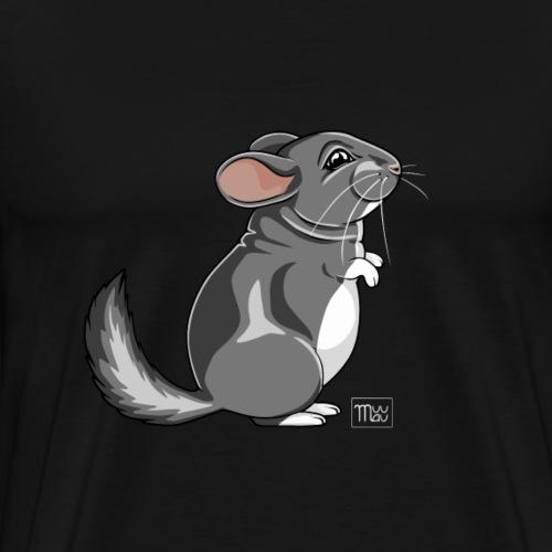 Chinchilla V - Miesten premium t-paita