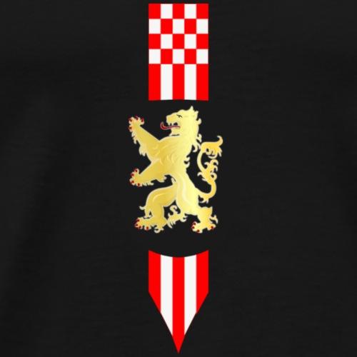 Brabant leeuw met wimpel compact - Mannen Premium T-shirt