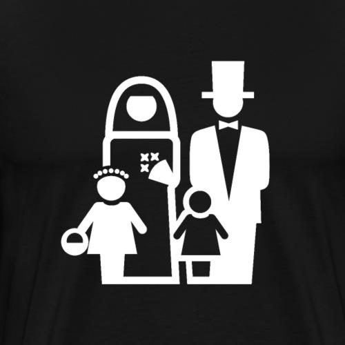 Wedding Icon White - Men's Premium T-Shirt