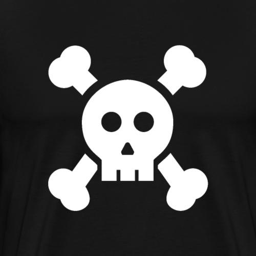 Urban Skull White - Men's Premium T-Shirt