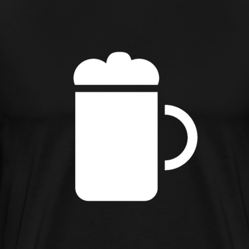 Beer Glass White - Men's Premium T-Shirt