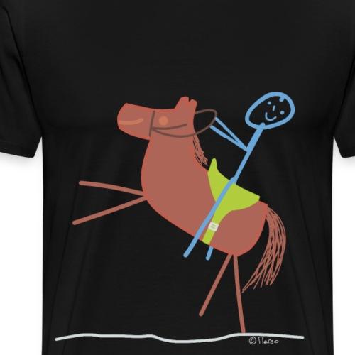 Springreiten Pferd Strichmännchen Reitturnier - Männer Premium T-Shirt