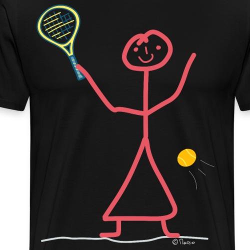 Tennis Frau Strichfrau Spielerin Game Match - Männer Premium T-Shirt