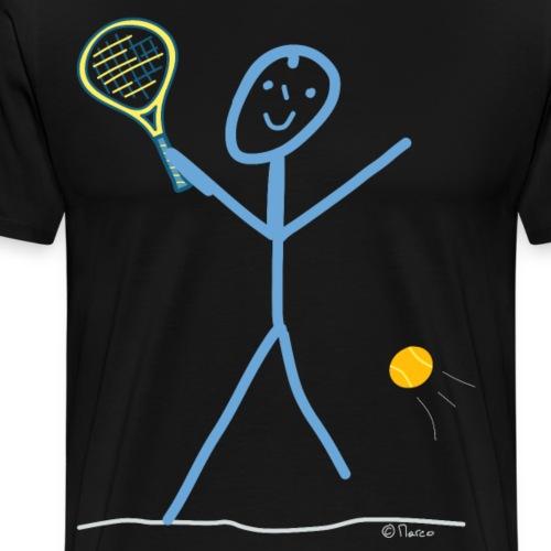 Tennis Strichmännchen Sport Spiel Spaß Ball - Männer Premium T-Shirt