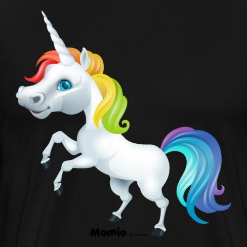 Rainbow enhjørning - Premium T-skjorte for menn