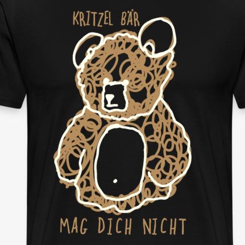 Gekritzel Bär Kitzel Bär antisocial Bär ew people - Männer Premium T-Shirt