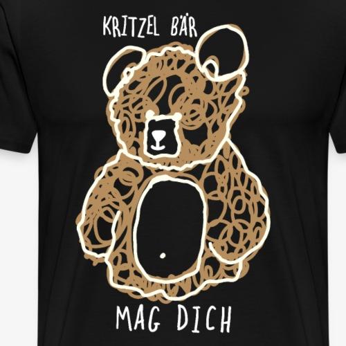Gekritzel bär kritzel bär skizze geschenk - Männer Premium T-Shirt