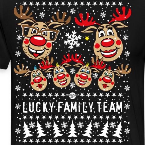 263 Hirsch Rudolph LUCKY FAMILY TEAM 4 Kinder - Männer Premium T-Shirt