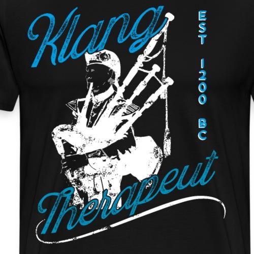 Lustiges Dudelsackspieler T-Shirt Klangtherapeut - Männer Premium T-Shirt