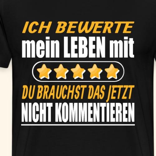 5 Sterne - Motivtaion gegen Mobbing & Depression - Männer Premium T-Shirt