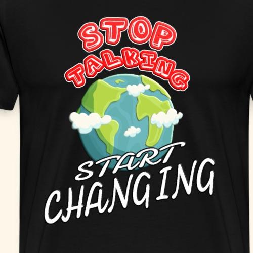 Klimaschutz Klimaerwärmung friday for future Demo - Männer Premium T-Shirt