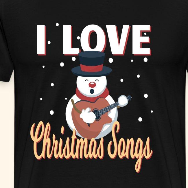 i love Christmas Songs Schneemann