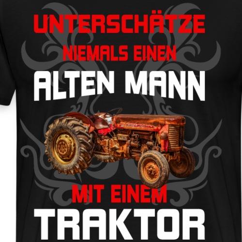 lustiges Herren Traktor alter Mann Bauer Landwirt - Männer Premium T-Shirt