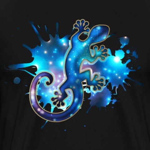 Space Gecko, Galaxie, Sterne, Weltraum, Surfen, - Männer Premium T-Shirt