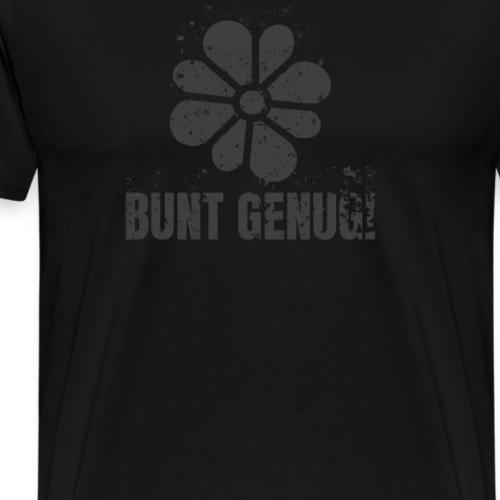 schwarz ist bunt genug! Blumen Design Gothik - Männer Premium T-Shirt