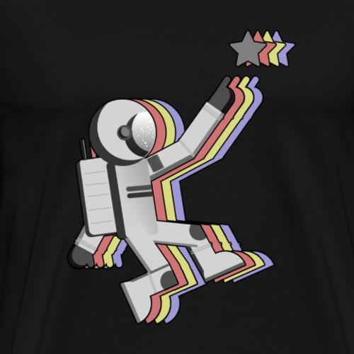 Europäischer Astronaut überlagert - Männer Premium T-Shirt