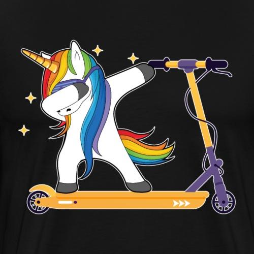 Dabbing Unicorn auf einem Escooter - Männer Premium T-Shirt