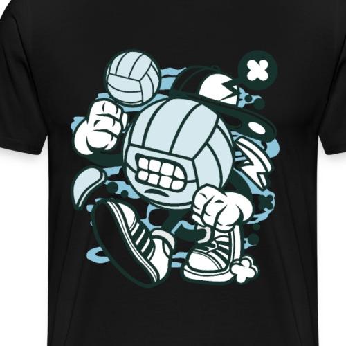 Volleyball Graffiti Geschenk Geschenkidee - Männer Premium T-Shirt