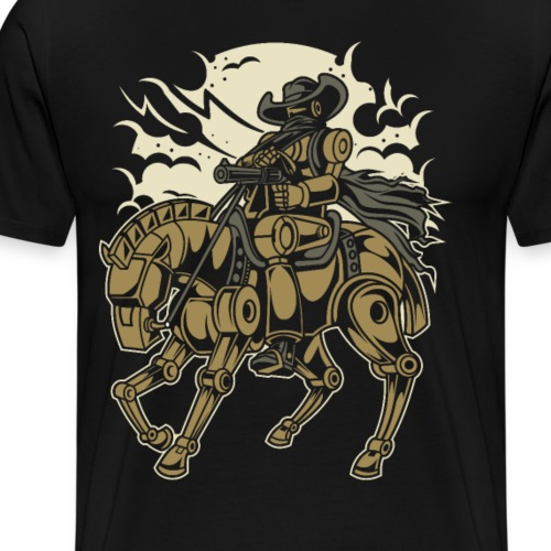 Steam Punk Cowboy - Männer Premium T-Shirt