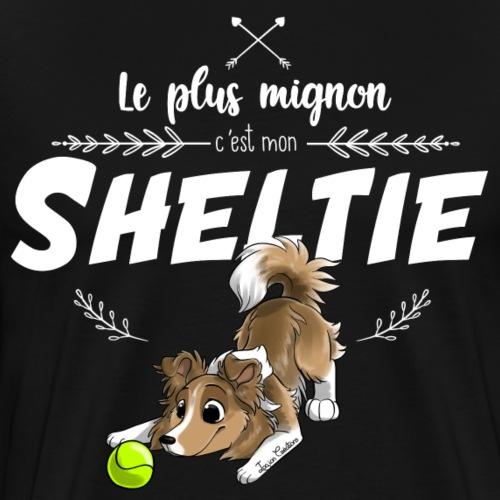 Le plus mignon Shetland - T-shirt Premium Homme
