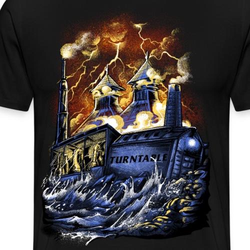 Whisky Turntable Distillery - Männer Premium T-Shirt
