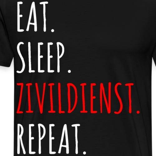 Zivildiener Zivi Rettung Shirt Geschenk - Männer Premium T-Shirt