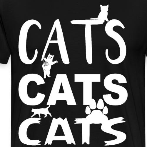 cats cats cats Weiss - Männer Premium T-Shirt