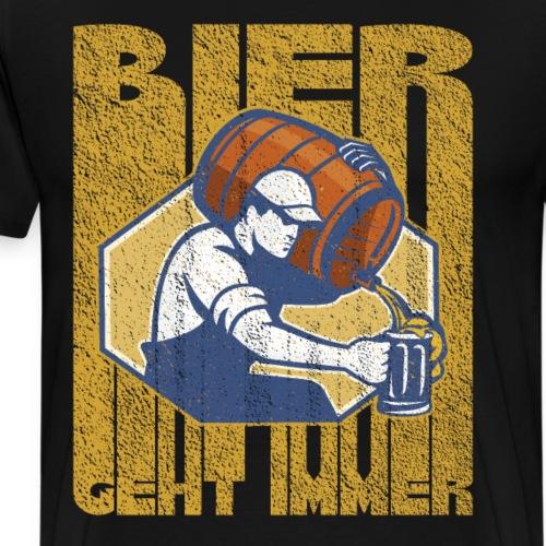 Bier geht immer - Männer Premium T-Shirt