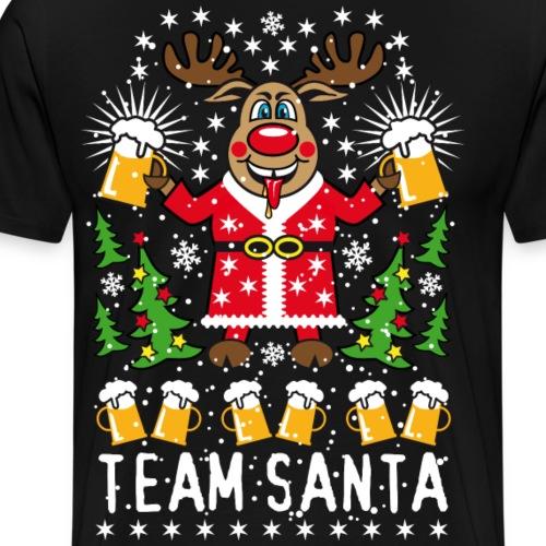 90 Hirsch Rudolph Bier Team Santa on Tour Beer - Männer Premium T-Shirt