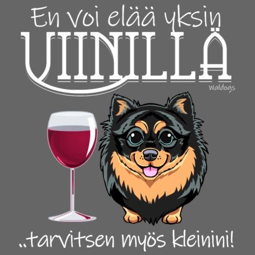Yksin Viinillä Kleini II - Miesten premium t-paita