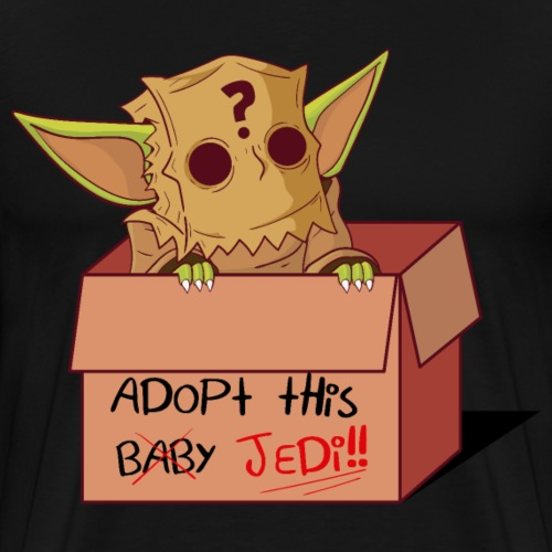 Adopta un bebe grogu - Camiseta premium hombre