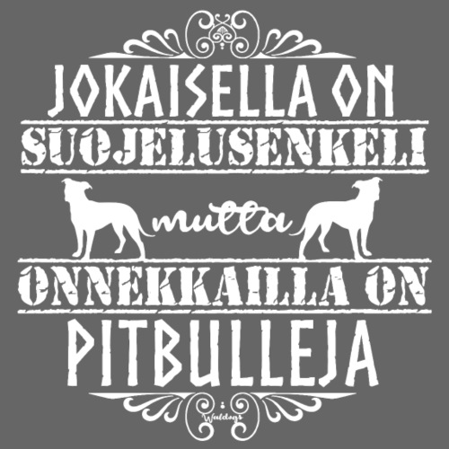 Pitbull Enkeli - Miesten premium t-paita