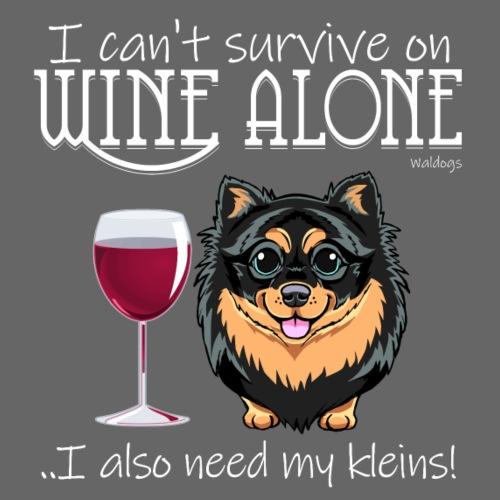Wine Alone Klein IV - Miesten premium t-paita