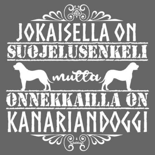 Kanariandoggi Enkeli - Miesten premium t-paita