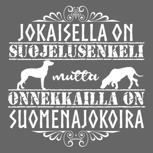 Suomenajokoira Enkelini - Miesten premium t-paita