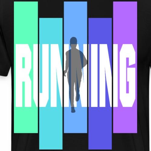 Joggen ist Leidenschaft Jogger Running Ausdauer - Männer Premium T-Shirt