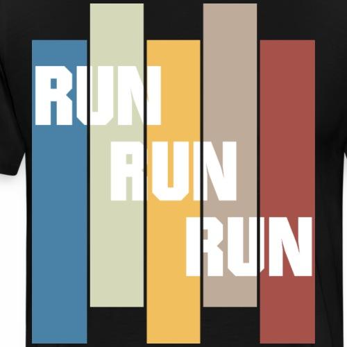 Laufen laufen laufen das ist dein Jogger Motto - Männer Premium T-Shirt