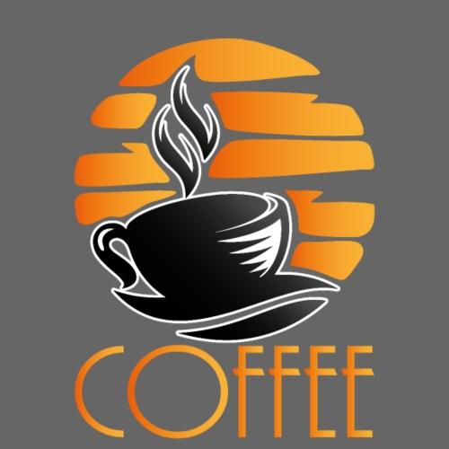 Kaffeelogo mit Schriftzug Kaffee Koffein Kaffee - Männer Premium T-Shirt