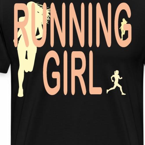 Du bist eine Läuferin ein rennendes Mädchen Jogger - Männer Premium T-Shirt