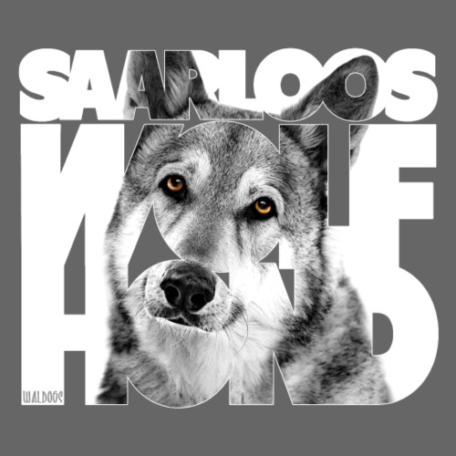 Saarloos Wolfhond I - Miesten premium t-paita
